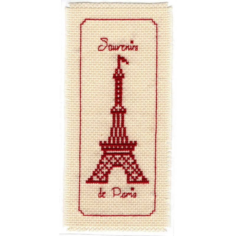 Kit Marque-Page La Tour Eiffel Point de Croix Comptés