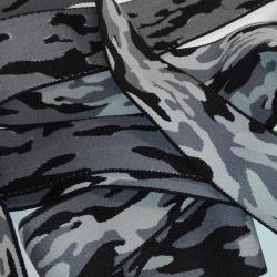 Elastique Militaire Camouflage 38 mm Coloris Noir Gris 2 METRES