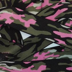 Elastique Militaire Camouflage 38 mm Coloris Kaki Rose 2 METRES
