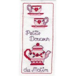 Kit Marque-Page Petite Douceur du Matin Point de Croix Comptés Broderie