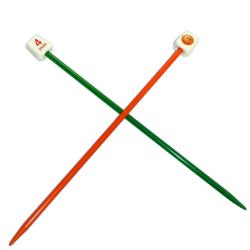 1 Paire Aiguilles à tricoter Enfant 18 cm de long Taille 4 mm Plastique