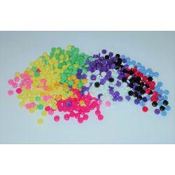 300 Mini Boutons Multicolores Plastique 5 mm
