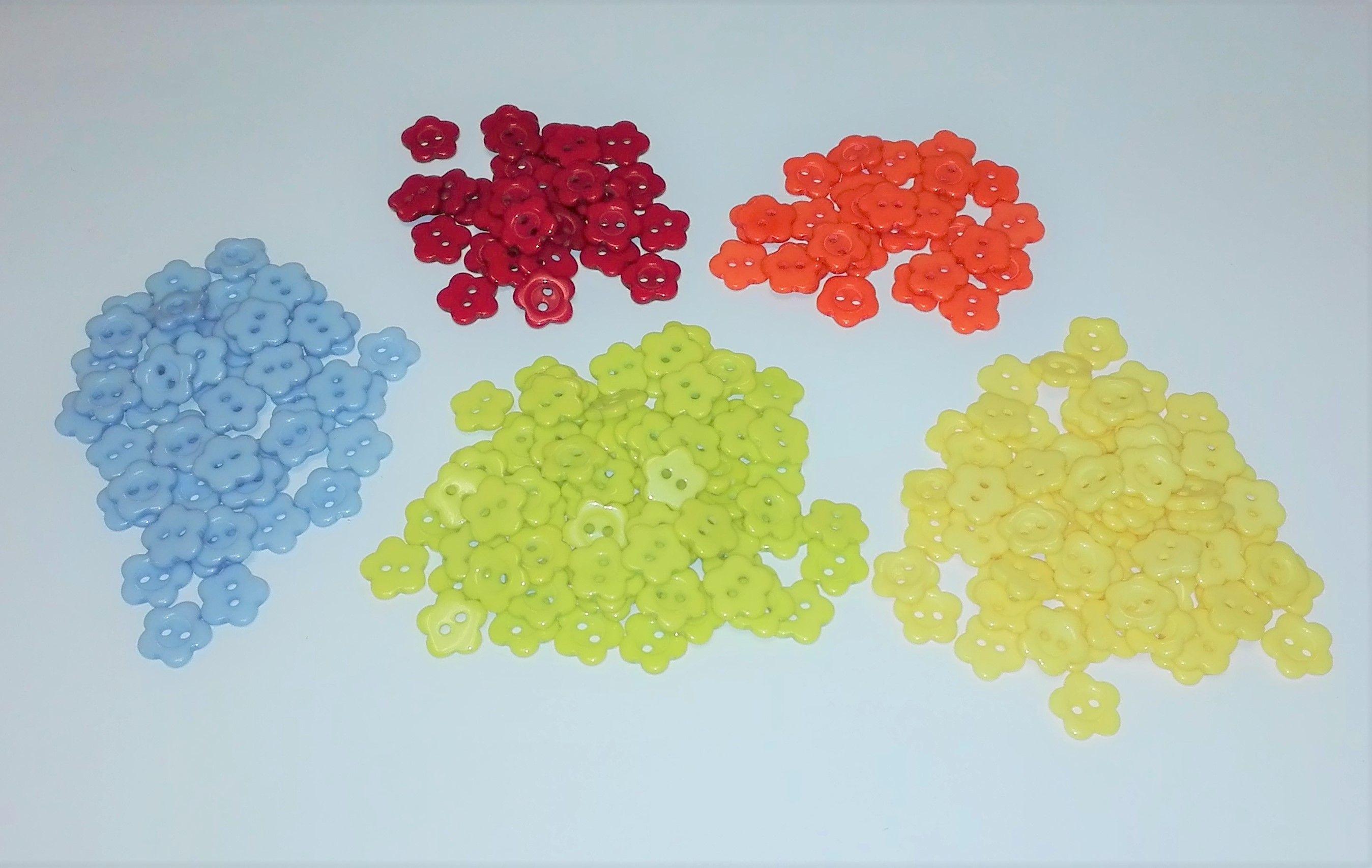 10 Mm Bleu Paillettes Fleur Boutons disponible en boîtes de 2 5 ou 10