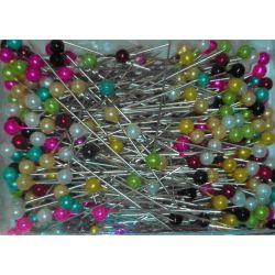 450 Epingles Tête de Perle 35 mm Coloris Multicolore