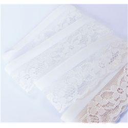 Ruban Dentelle Thermocollant 35 mm Coloris Blanc 1,50 m