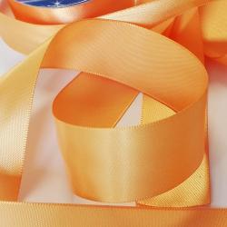 Ruban Satin 25 mm Coloris Jaune Orange 4 Mètres sur rouleau