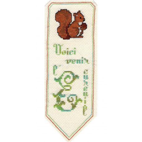 Kit Marque-Page L' Ecureuil Point de Croix Comptés Broderie