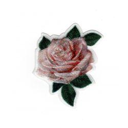 Patch Ecusson Thermocollant Jolie Rose Fleur 5 x 5 cm