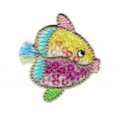 Patch Ecusson Thermocollant Poisson Douceur Bébé Sequins 4,50 x 5 cm