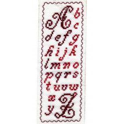 Kit Marque-Page Alphabet Traditionnel Point de Croix Comptés Broderie