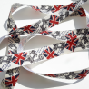 Ruban Fantaisie Royaume Uni Union Jack Drapeau Anglais 25 mm x 2 mètres