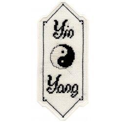 Kit Marque-Page Le Yin et le Yang Point de Croix Comptés Broderie
