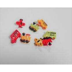 Boutons 8 x Train Voiture Avion Bus en plastique environ 20 mm