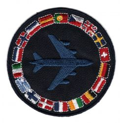 Patch Ecusson Thermocollant Insigne Avion Drapeau International 7,50 x 7,50 cm
