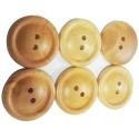 6 x Bouton en bois Coloris Naturel 35 mm