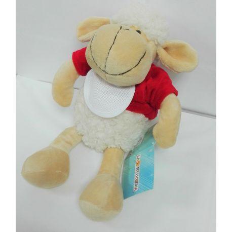 Doudou à broder peluche mouton et sa bavette à personnaliser 25 cm
