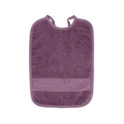 Bavoir à Broder Sans Poche Point de Croix Coloris Violet Antique Taille 6 mois / 1 an
