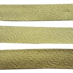 Ruban Biais Replié 20 mm Polyester Vendu par 4,50 Mètres 2 Coloris Or Doré