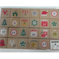 Cubes boites pour Calendrier de l'Avent à remplir 5 x 5 cm le cube