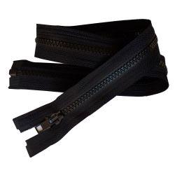 Fermeture Eclair Coloris Noir 25 cm Séparable Ouvrable maille 5 mm largeur 3 cm blouson