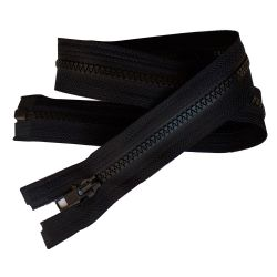 Fermeture Eclair Coloris Noir 75 cm Séparable Ouvrable maille 5 mm largeur 3 cm blouson