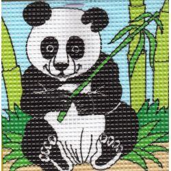 Kit Canevas complet Le Panda 16 x 16 Enfant gros trous