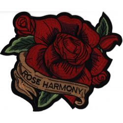 Patch Ecusson Thermocollant XXL Rose Harmony Tatoo 23 x 25 cm
