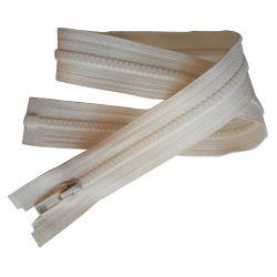 Fermeture Eclair Coloris Ecru 25 cm Séparable Ouvrable maille 5 mm largeur 3 cm blouson