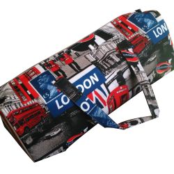Sac Tricot Londres London Angleterre Rangement Baluchon