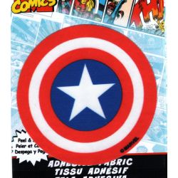 Patch Ecusson Thermocollant Captain America 7,50 x 7,50 cm