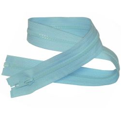 Fermeture Eclair Coloris Bleu Clair 40 cm Séparable Ouvrable maille 5 mm largeur 3 cm blouson