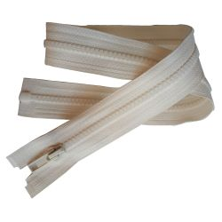 Fermeture Eclair Coloris Ecru 35 cm Séparable Ouvrable maille 5 mm largeur 3 cm blouson