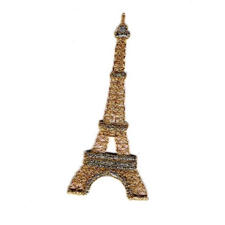 Patch Ecusson Thermocollant Tour Eiffel 3,50 x 8 cm