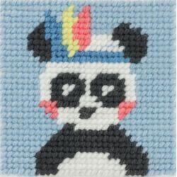 Kit Canevas complet Panda Pandi 15 x 15 Enfant gros trous
