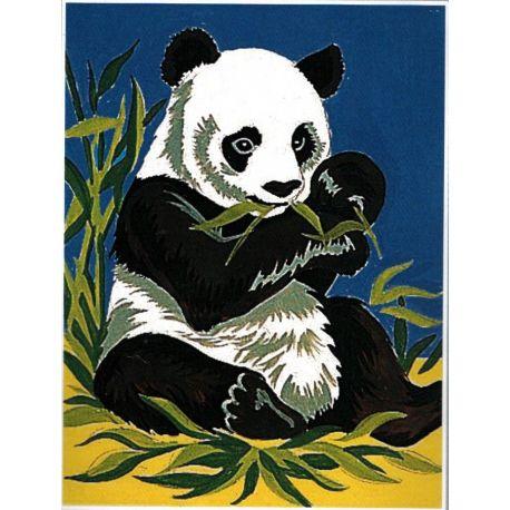 Kit Canevas complet Le Panda et ses Bambous 14 x 18 cm