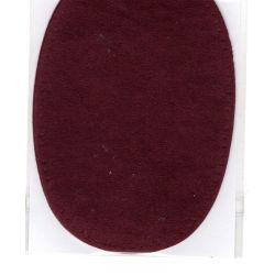2 Renforts coude Genou à Coudre Coloris Bordeaux Imitation Daim 9,20 x 13,50 thermocollant provisoire
