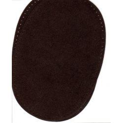 2 Renforts coude Genou à Coudre Coloris Marron Brun Imitation Daim 9,20 x 13,50 thermocollant provisoire