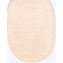 2 Renforts coude Genou à Coudre Coloris Ecru Imitation Daim 9,20 x 13,50 thermocollant provisoire