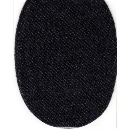 2 Renforts coude Genou à Coudre Coloris Jeans Noir 9,20 x 13,50 thermocollant provisoire
