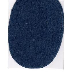 2 Renforts coude Genou à Coudre Coloris Jeans Bleu 9,20 x 13,50 thermocollant provisoire