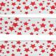 Ruban Biais Replié 27 mm Coton Etoiles Coloris Rouge Vendu par 4,95 Mètres