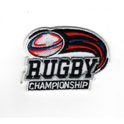 Patch Ecusson Thermocollant Rugby Championship Tricolore 4 x 5,50 cm