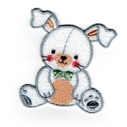 Patch Ecusson Thermocollant Lapin Funny Layette 6 x 7 cm
