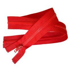 Fermeture Eclair Coloris Rouge Clair 60 cm Séparable Ouvrable maille 5 mm largeur 3 cm blouson