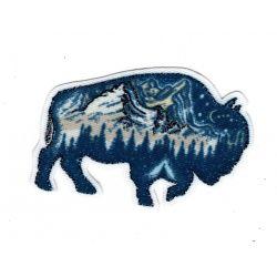 Patch Ecusson Thermocollant Buffle Bison Lurex Boréal 4,50 x 6,50 cm