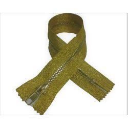 Fermeture Eclair Coloris Or Doré 30 cm Non Séparable Ouvrable maille métal 5 mm largeur 3 cm pantalon jeans