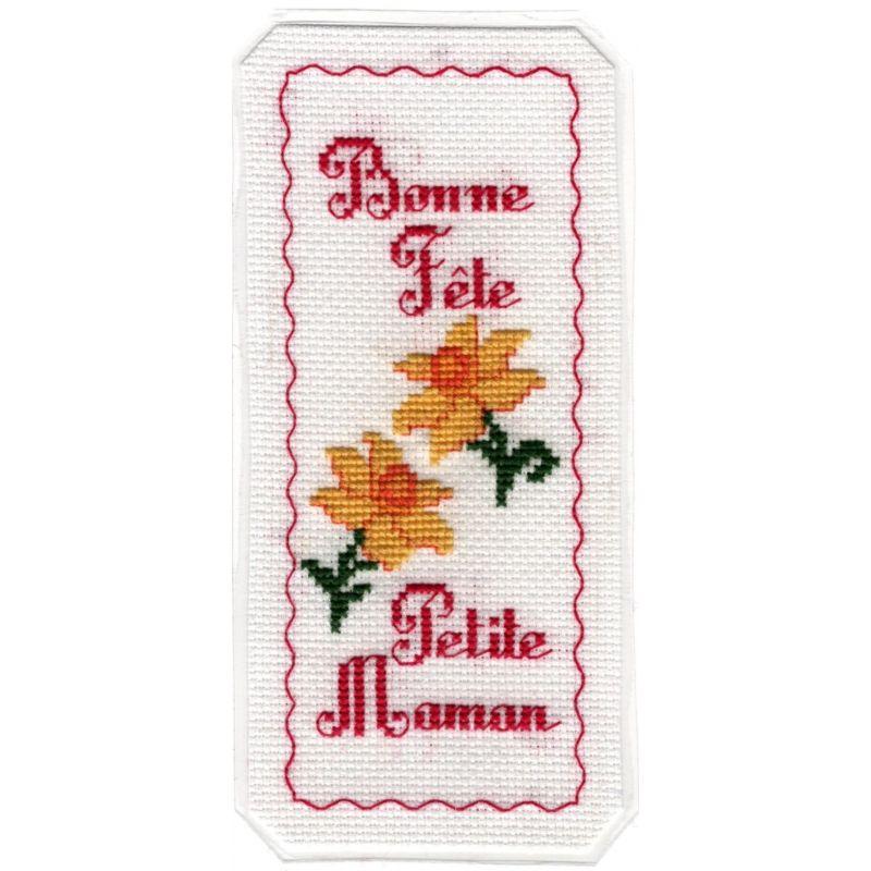 Kit Marque Page Bonne Fete Maman Point De Croix Broderie