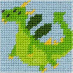 Kit Canevas complet Le Dragon 15 x 15 Enfant gros trous