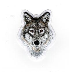 Patch Ecusson Thermocollant Tête de Loup 4,50 x 5,50 cm