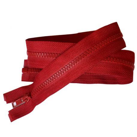 Fermeture Eclair Coloris Rouge foncé 55 cm Séparable Ouvrable maille 5 mm largeur 3 cm blouson